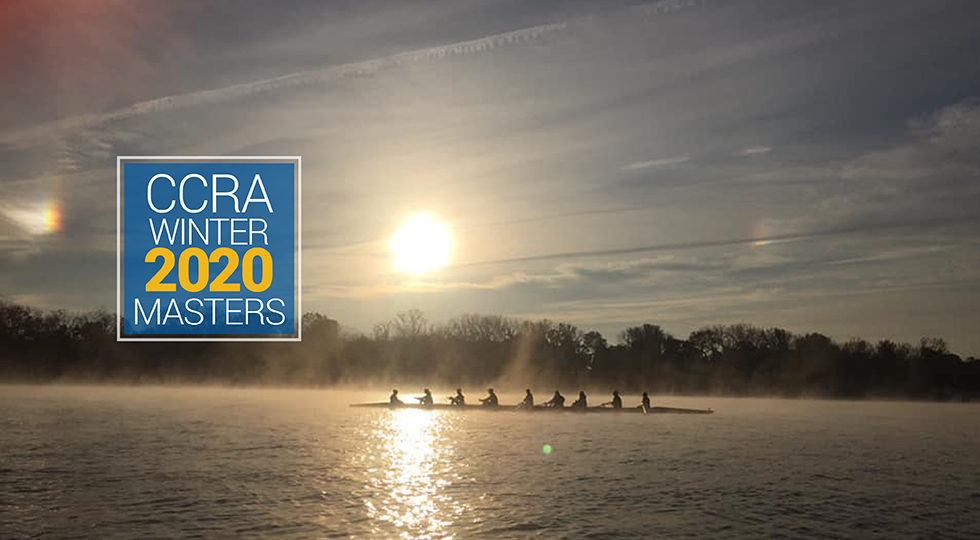 Masters rowing on the Hudson