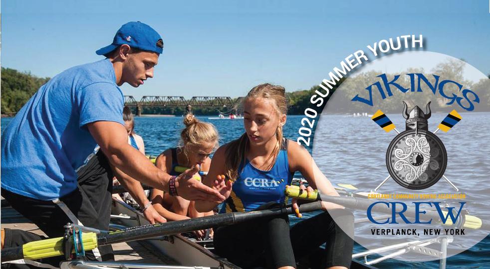 Youth rowers with coach